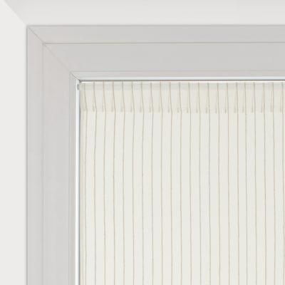 Tendina a vetro per finestra Natura bianco 45 x 90 cm