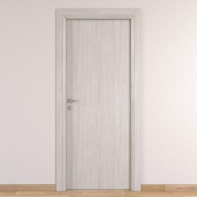 Porta da interno battente Brooklyn frassino bianco 90 x H 210 cm reversibile