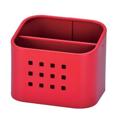Porta posate rosso L 10,5 x P 8,4 x H 8,5 cm