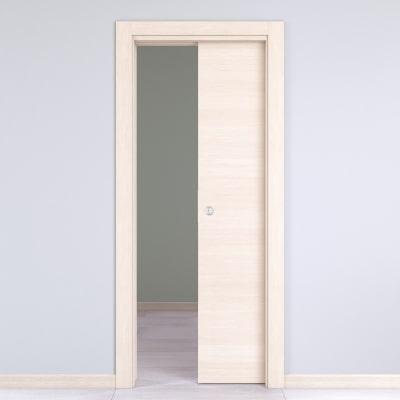 Porta da interno scorrevole Lucad Grano 80 x H 210 cm reversibile