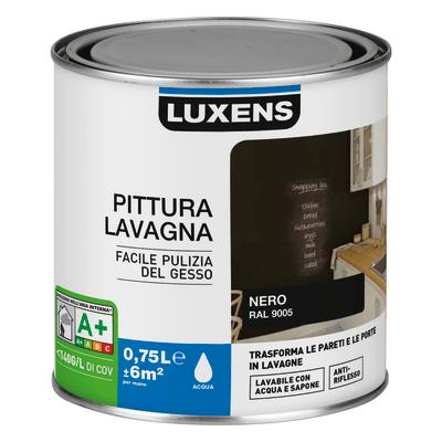 Pittura Effetto lavagna Luxens nero 0.75 L