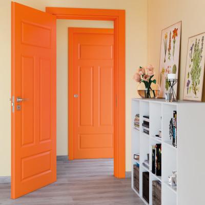 Porta da interno battente Coconut Groove arancio 70 x H 210 cm dx