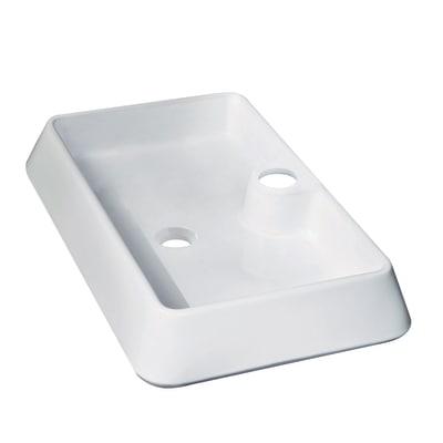 Lavabo da appoggio rettangolare Galicia L 60 x P 40 x H  10 cm bianco