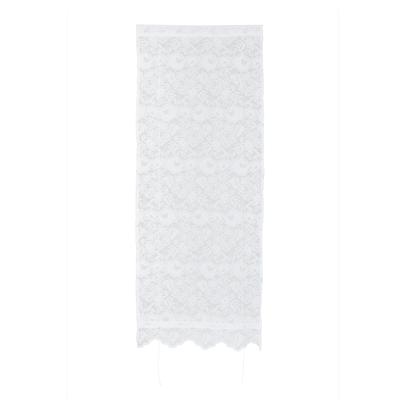 Tendina a vetro regolabile per finestra Cleopatra bianco 60 x 150 cm