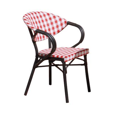 Sedia impilabile Trattoria bianco e rosso