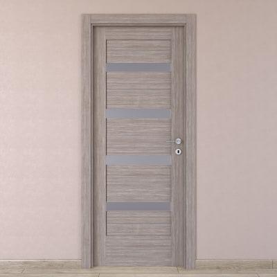 Porta da interno battente Capena 5 sabbia 70 x H 210 cm sx