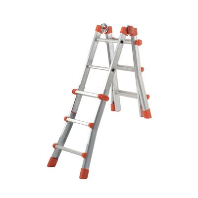Scala telescopica alluminio Dexter 3+3 gradini, per lavori fino a 3,7 m