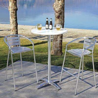 Struttura tavolo in alluminio, H 112 cm argento