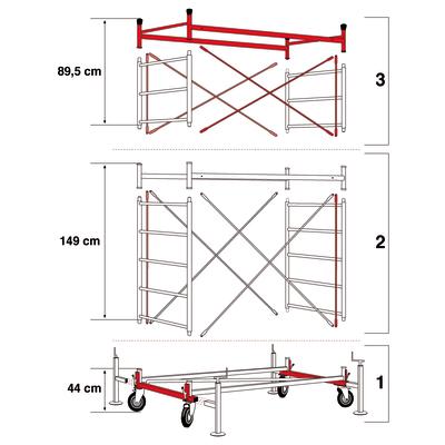 Base trabattello Facal Spazio in acciaio zincato, per lavori fino a 3,6 m