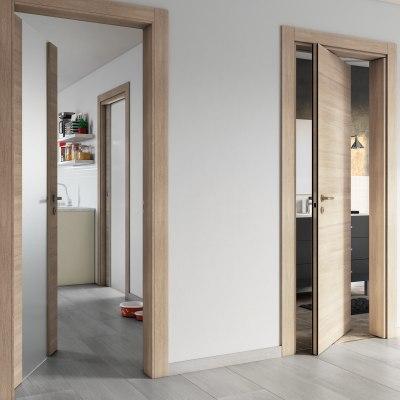 Porta da interno battente Ritz Rosa del deserto 80 x H 210 cm reversibile