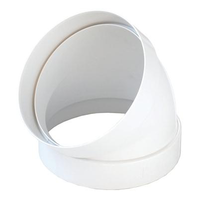 Curva tonda 45° per tubo Ø 10 cm