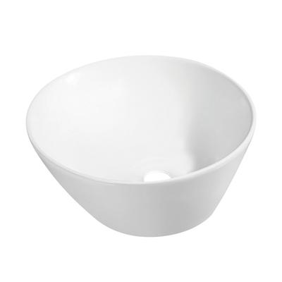 Lavabo da appoggio tondo Svaso L 46 x P 45 x H  17 cm bianco