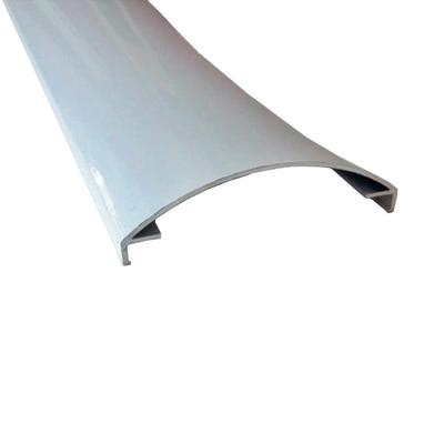 Profilo perimetrale ReadyBlock GlassCover curvo lucido alluminio 1 m, 8,53 x 2,3 cm