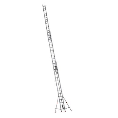 Scala con fune alluminio Facal 3x16 gradini, per lavori fino a 13,34 m