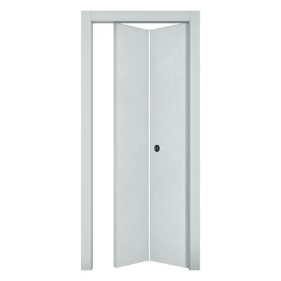 Porta da interno pieghevole Hunk cemento calce 70 x H 210 cm sx