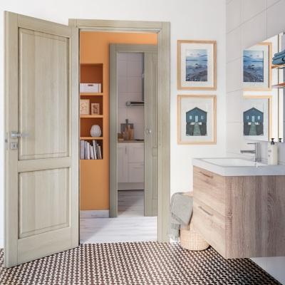 Porta da interno scorrevole Vermeer rovere sbiancato 70 x H 210 cm sx