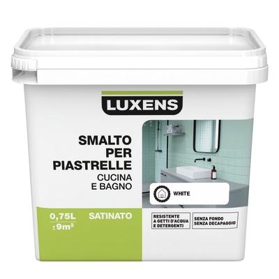 Smalto Per piastrelle Luxens Bianco satinato 0,75 L