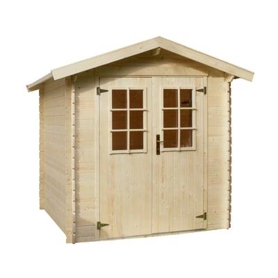 casetta in legno grezzo Mikka 3,45 m², spessore 19 mm