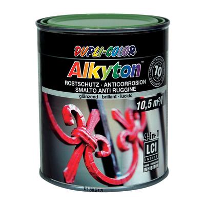 Smalto per ferro antiruggine Alkyton verde RAL 6011 brillante 0,75 L