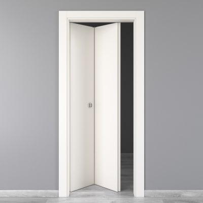 Porta da interno pieghevole Moma bianco 70 x H 210 cm sx