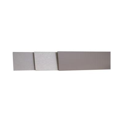Alzatina su misura Rovere laminato bianco H 10 cm