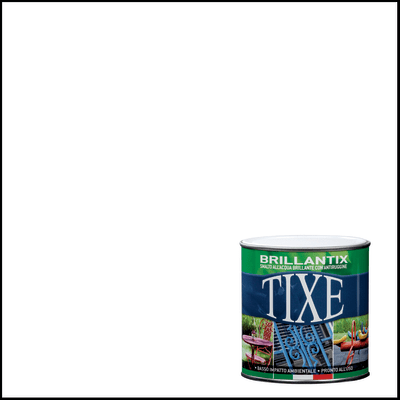 Smalto per ferro antiruggine Tixe Brillantix bianco brillante 0,5 L