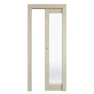 Porta da interno scorrevole Shaula paglia 80 x H 210 cm reversibile