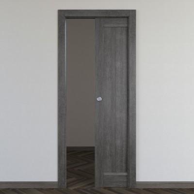Porta da interno scorrevole Zaniah tabacco 70 x H 210 cm reversibile