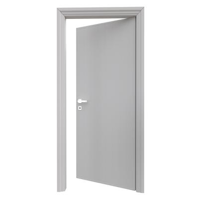 Porta da interno battente Pvc grey grigio 90 x H 210 cm dx