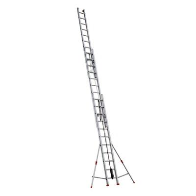 Scala con fune alluminio Facal 3x11 gradini, per lavori fino a 9,44 m