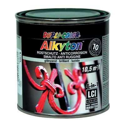 Smalto per ferro antiruggine Alkyton verde RAL 6005 brillante 0,25 L