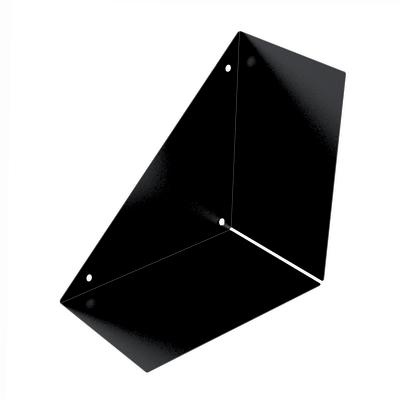 Mensola a L nero L 30 x P 30, sp 18 cm