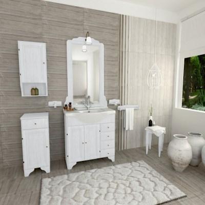 Specchio con faretto Laura bianco 70 x 113 cm