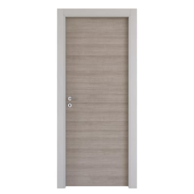 Porta da interno battente One grigio/white 70 x H 210 cm reversibile