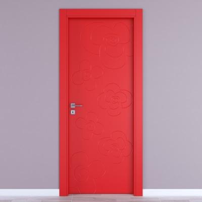 Porta da interno battente Flower red rosso 70 x H 210 cm dx