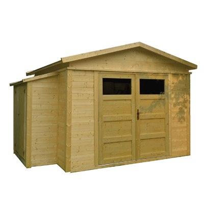 casetta in legno grezzo Sirkka 3 11,89 m², spessore 28 mm