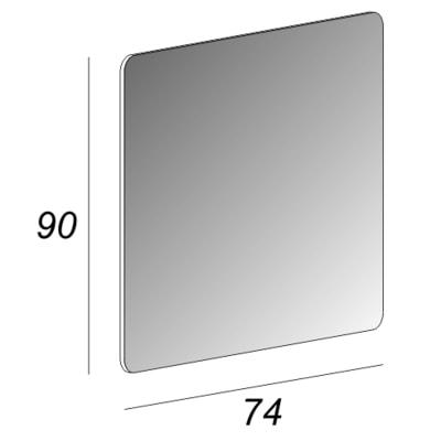 Specchio Compact 74 x 90 cm