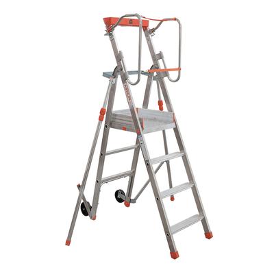 Scala doppia alluminio Facal 4 gradini, per lavori fino a 2,8 m
