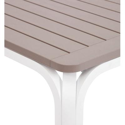 Tavolo allungabile Alloro, 140 x 100 cm bianco