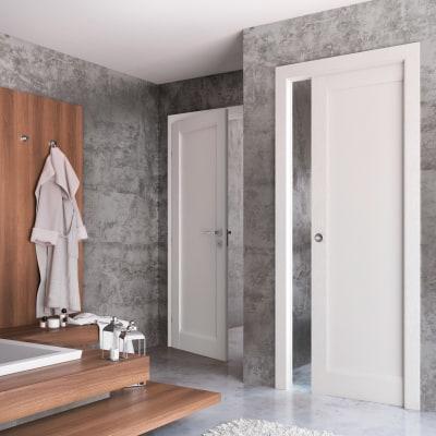 Porta da interno scorrevole Aludra bianco 70 x H 210 cm reversibile
