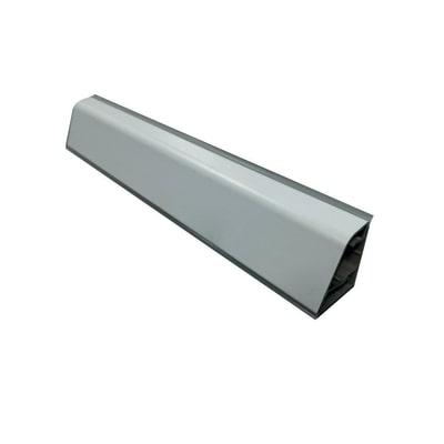 Alzatina su misura Noce vintage alluminio marrone H 4 cm