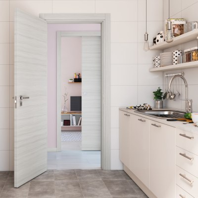 Porta da interno scorrevole Oxford 80 x H 210 cm reversibile
