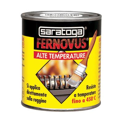 Smalto spray Fernovus Saratoga alte temperature nero satinato 250 ml