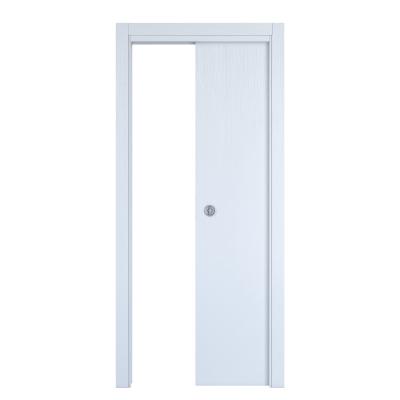 Porta da interno scorrevole Renoir bianco venato 80 x H 210 cm reversibile