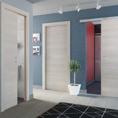 Porta da interno battente One ecrù 80 x H 210 cm reversibile