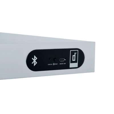Mensola con speakers nero L 80 x P 23,5, sp 3,8 cm