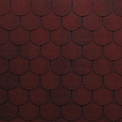 Tegole canadesi coda di castoro Onduline Bardoline Pro rosso in bitume 100 x 34  cm, spessore 3,4 mm