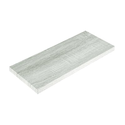 Mensola Spaceo rovere sbiancato L 76 x P 23,7, sp 2,2 cm
