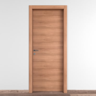 Porta da interno battente Degas noce 80 x H 210 cm reversibile