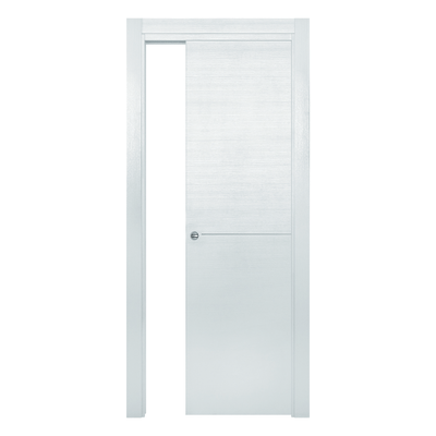 Porta da interno scorrevole Hollow bianco matrix 70 x H 210 cm reversibile